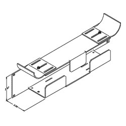 Chatsworth Products Jumper and Transition Trays - Lower Tray, Double