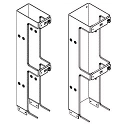 Chatsworth Products Two-Foot Single-Sided Vertical Cabling Section Extensions