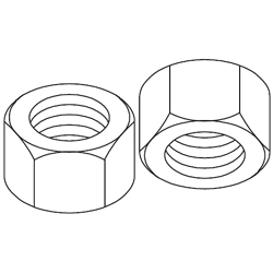 Chatsworth Products Zinc Plated Hex Nuts