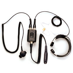 Pryme Heavy Duty Throat Mic for Motorola and Relm Radios