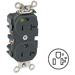 Leviton Back and Side Wired Slim Design Receptacle
