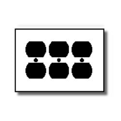 Leviton 3-Gang Duplex Device Receptacle Wallplate
