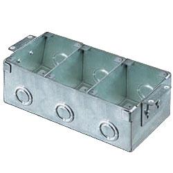 Hubbell 3-Gang Rectangular Stamped Steel Flush Floor Box for Wooden Floors