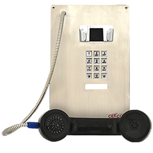 Ceeco SIP Stainless Steel Panel Phone with Armored Cord and Keypad