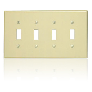 Leviton 4-Toggle Midway Size Nylon Wallplate