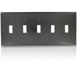 Leviton Standard Size 5-Gang Toggle Switch Wallplate