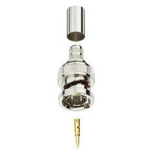 Ideal BNC Plug, RG-58, PVC, 50 Ohm, 2 pc Single Crimp, IA-3744