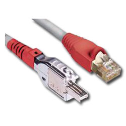 Siemon TERA Category 5e, 2-Pair TERA-to-shielded MC5 Modular Plug, LS0H Cable Assembly Patch Cord