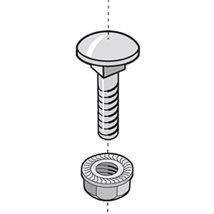 Legrand - Cablofil Nut/Bolt Assembly (Package of 50)