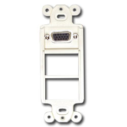 Siemon 4-Port MAX Mounting Frame with HD15 Female-Female Adapter