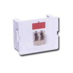 Siemon Flat Fiber Adapter CT Coupler with 1 Duplex LC Adapter (2 Fibers)
