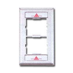 Siemon Single Gang Stainless Steel CT Faceplate for Two Couplers with Labels