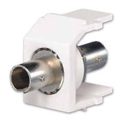 Panduit® Netkey ST Simplex Multimode Adapter Keystone Module with Phosphor Bronze Split Sleeves