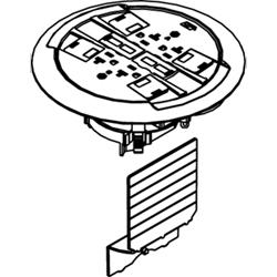 Legrand - Wiremold Ratchet-Pro 881 Series Multiple Service Floor Box Cover Kit, Brushed Aluminum