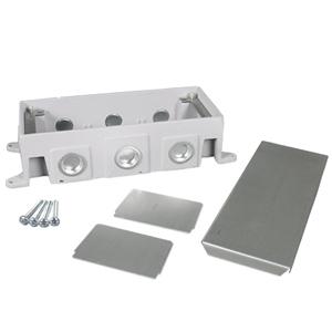 Legrand - Wiremold OmniBox Series Three-Gang Cast Iron Floor Box