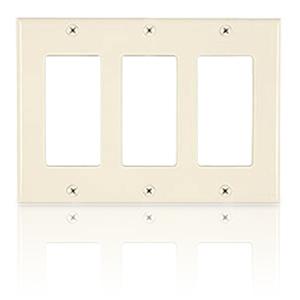 Allen Tel Designer Series Three Gang Wall Plate