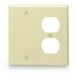 Leviton Urea Combination 2 Gang Wallplate (1 Duplex/1 Blank)