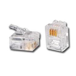 Allen Tel 4x6 Modular Plug for Flat 22/24 GA Solid Wire