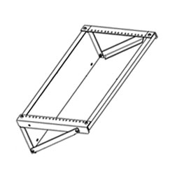 Chatsworth Products Extra-Capacity Flush-Mounted Wall Bracket