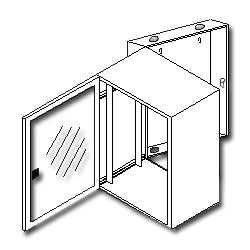 Southwest Data Products Double Swing Sub-Distribution Enclosure 23