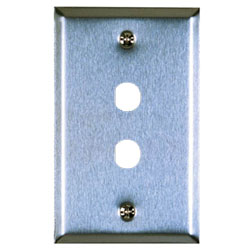 Allen Tel Stainless Steel Flush Wall Plates For 1 or 2 F-type .375