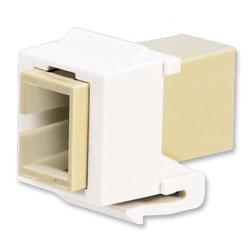 Panduit® Netkey SC Simplex Multimode Adapter Keystone Module with Phosphor Bronze Split Sleeves