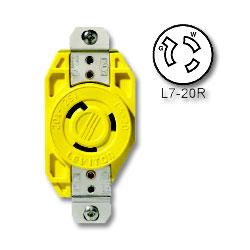 Leviton 20 AMP 277V Single Locking Flush Receptacle