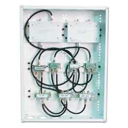 Channel Vision 3 In, 12 Out RF Distribution Panel
