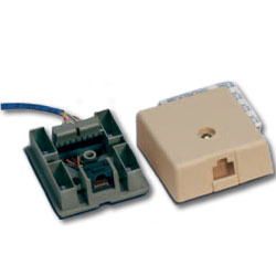Suttle 8-Conductor, 110-IDC Terminal Non-Keyed Simplex Modular Jack