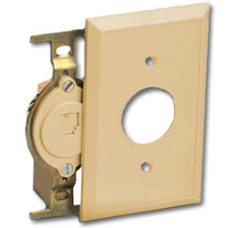 Suttle Flush Mount Jack Module Assembly with CorroShield/Trap Door - 6P4C