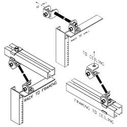 Chatsworth Products Universal Earthquake Bracing Kit