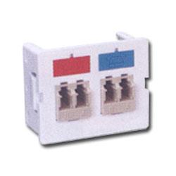 Siemon Flat Fiber Adapter CT Coupler with 2 Duplex LC Adapters (4 Fibers)
