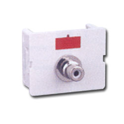 Siemon Flat Video CT Coupler with 1 RCA Adapter