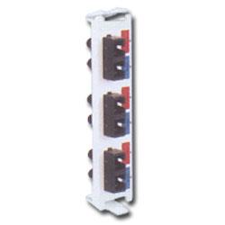 Siemon Flat Quick-Pack 3 Duplex ST-SC Adapter Plate (6 Fibers, Front Side = SC)