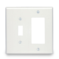 Leviton Midway Size Smooth Plastic Wallplates
