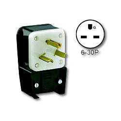 Leviton Matching Angle Plug 30Amp 250V