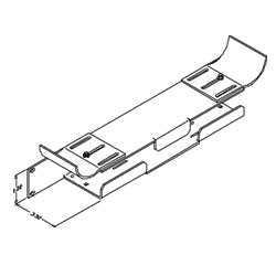 Chatsworth Products Jumper and Transition Trays - Lower Tray, Single