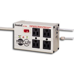 Tripp Lite 4 AC Outlet Ultra Diagnostic Surge Suppressor with Modem/Fax Interface