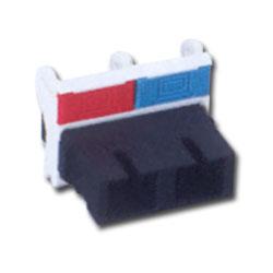 Siemon MAX Fiber Adapter Flat Module with 1 Duplex SC Adapter (2 Fibers)