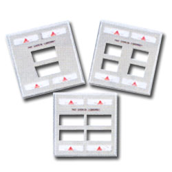 Siemon Double Gang Stainless Steel Faceplate for MAX Modules with Labels and Label Holder