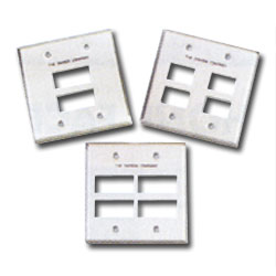 Siemon Double Gang Stainless Steel Faceplate for MAX Modules