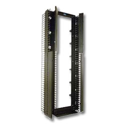 "Chatsworth Products Global Vertical Cabling Section 3.65""W x 6.76""D, Narrow, Black"