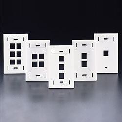 Leviton QuickPort Single-Gang Wallplates with Designation ID