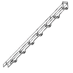 Chatsworth Products Single-Sided Wide Vertical Cabling Section