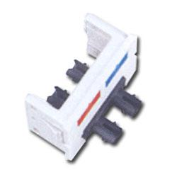 Siemon Flat Fiber Adapter CT Coupler with 1 Duplex ST Adapter (2 Fibers)