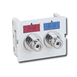 Siemon Flat Video CT Coupler with 2 RCA Adapters