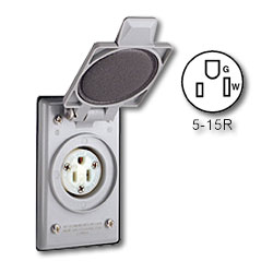 Leviton 15A-125V Standard Wire Well NEMA 5-15 Receptacle