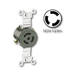 Leviton 15Amp Non-NEMA Single Flush Locking Receptacle