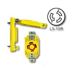 Leviton 15 Amp Single Locking Wetguard Receptacle with Cover (Grounding)