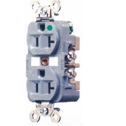 Hubbell Hospital Grade Isolated Ground Narrow Body Duplex Receptacle